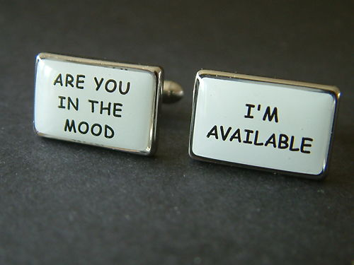 'Are You In The Mood' Cufflinks