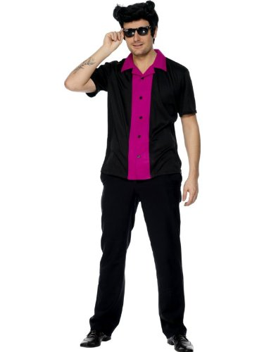 'Bowling Shirt' 50's Fancy Dress (Smiffys 30815)