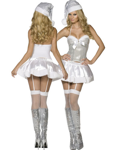 'Holiday Cheer' Sexy Fancy Dress - Silver (Smiffys)