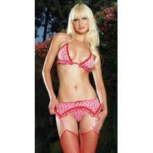 Bra, Suspenders and G-String Set (Leg Avenue 81069)