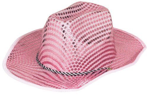 Cowboy Stetson Hat - Pink Sequined