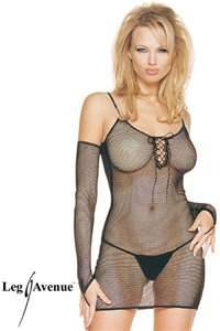 Fishnet Mini Dress Set (Leg Avenue 8319)
