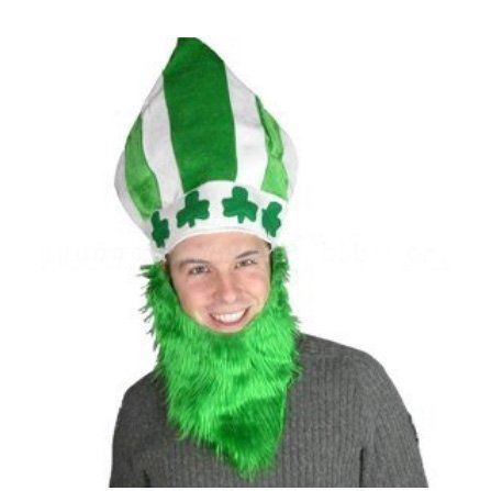 St Patrick's Day Mitre Hat and Beard