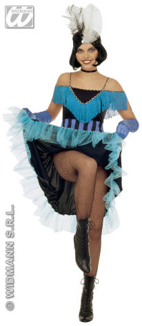 Can Can Girl - Sexy Fancy Dress - Blue (Widmann)