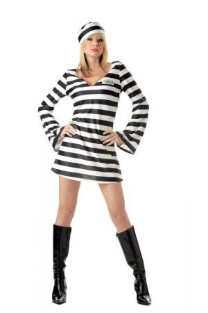 Convict Chick - Sexy Fancy Dress (California Costumes)