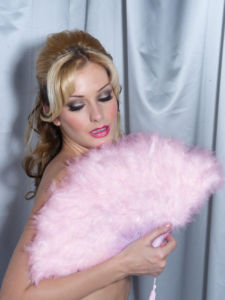 Fan - Sexy Marabou Feathers - Baby Pink