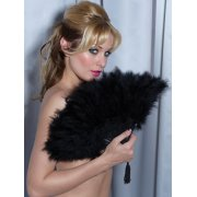Fan - Sexy Marabou Feathers - Black