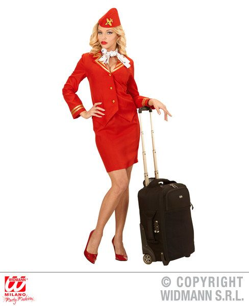 Flight Attendant - Sexy Fancy Dress (Widmann 59132)