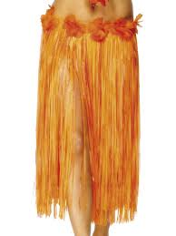 Hawaiian Hula Skirt - 73cm - Red/Orange (Smiffys 28970)