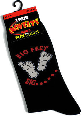 Men's Novely Socks - Big Feet Big...