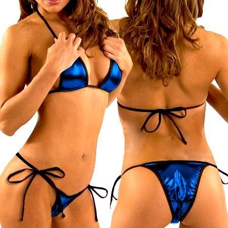 Micro Bikini (MB 7) - Metallic Blue with Black Trim