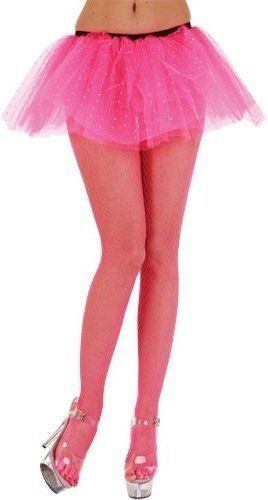 Micro Diamond Net Tights - Hot Pink (Wicked TS-7009)