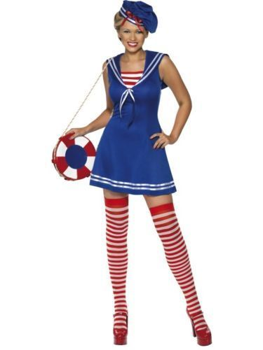 Sailor Cutie - Sexy Fancy Dress (Smiffys 33074) - includes Stockings!