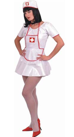 Sexy Nurse - Fancy Dress Costume (Smiffys) - Green Trim