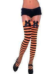 Stockings - Orange/Black Striped  (Smiffys 34152)