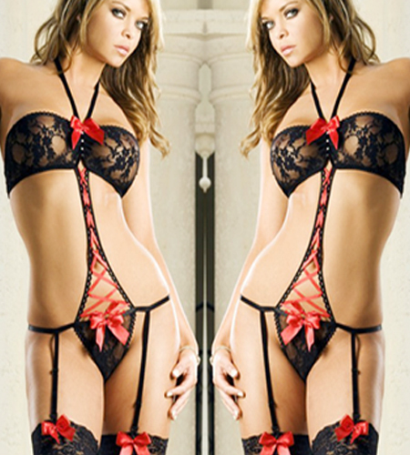 Thong Teddy - Red Ribbon  (T9)